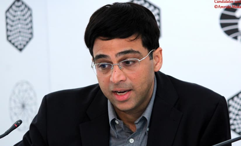 Anand during the post-match media conference. Amruta Mokal