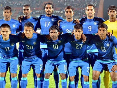 File photo of Indian football team. PTI
