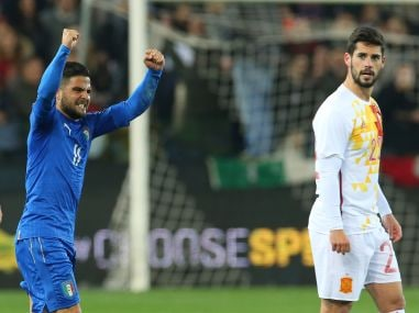 Football friendlies: Italys Insigne ends De Geas unbeaten run in Spain draw