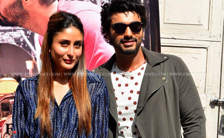 Ki & Ka stars Arjun Kapoor and Kareena Kapoor spotted at Mehboob Studio