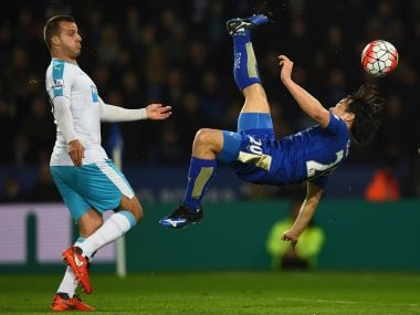 Premier League: Okazaki upstages Rafa Benitez with stunning goal as Leicester reassert lead