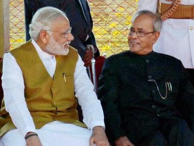 Prime Minister Narendra Modi and President Pranab Mukherjee. PTI