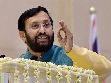 A file photo of Prakash Javadekar. PTI