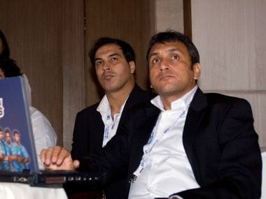 File picture of Rahul Sanghvi (R).