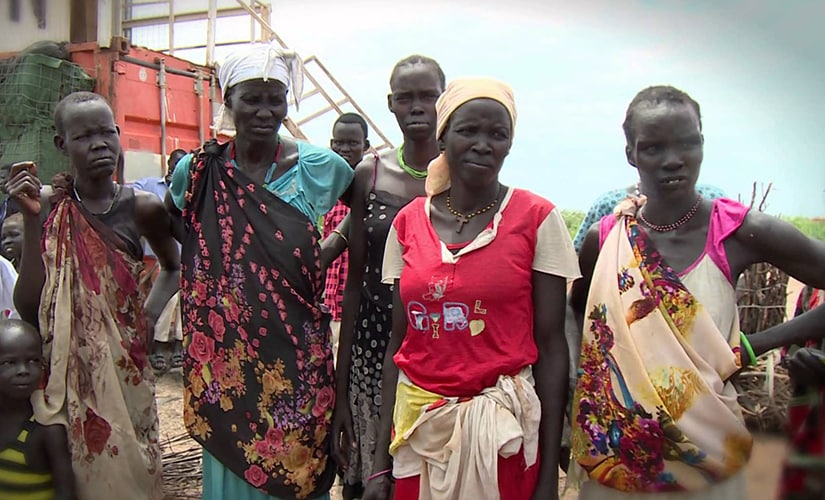 Women in South Sudan. Screen grab from YouTube