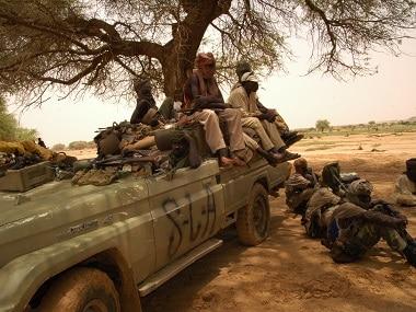 Sudan Liberation Movement (SLM) militants in a file photo. AFP