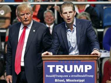 Donald Trumps son gets threat letter with suspicious white powder
