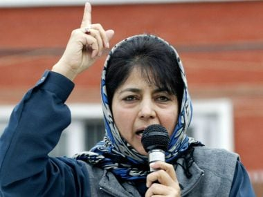 Jammu and Kashmir impasse: Mehbooba Mufti arrives in Delhi, likely to meet Narendra Modi on Tuesday