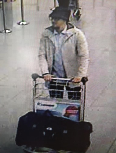 Belgian police issue wanted notice for Brussels attacks suspect - bespectacled, with a goatee beard