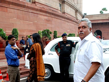 Vijay Mallya in front of Parliament in a file picture. AFP
