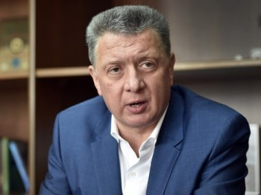 President of Russia's Athletics Federation (ARAF) Dmitry Shlyakhtin speaks during an interview. AFP