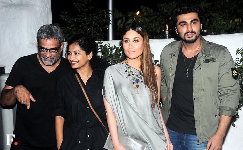 R. Balki, Gauri Shinde, Kareena Kapoor & Arjun Kapoor Sachin Gokhale/firstpost