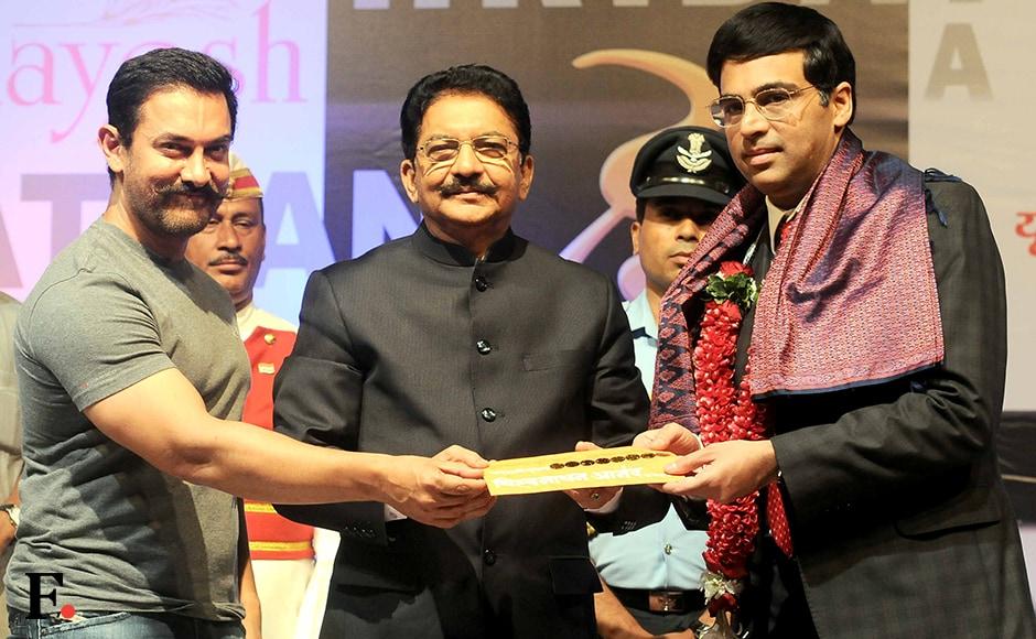 Aamir Khan, C. Vidyasagar Rao & Viswanathan Anand Sachin Gokhale/Firstpost