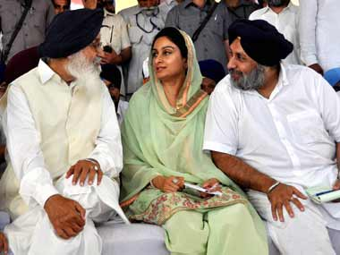 A file photo of Sukhbir Singh Badal. PTI