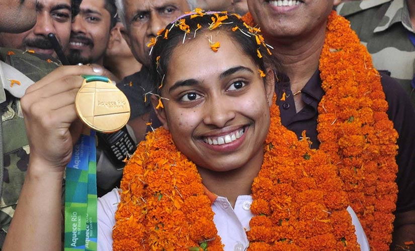 Dipa welcomed at her home town Agartala after securing qualification for the Rio Olympics. Firstpost