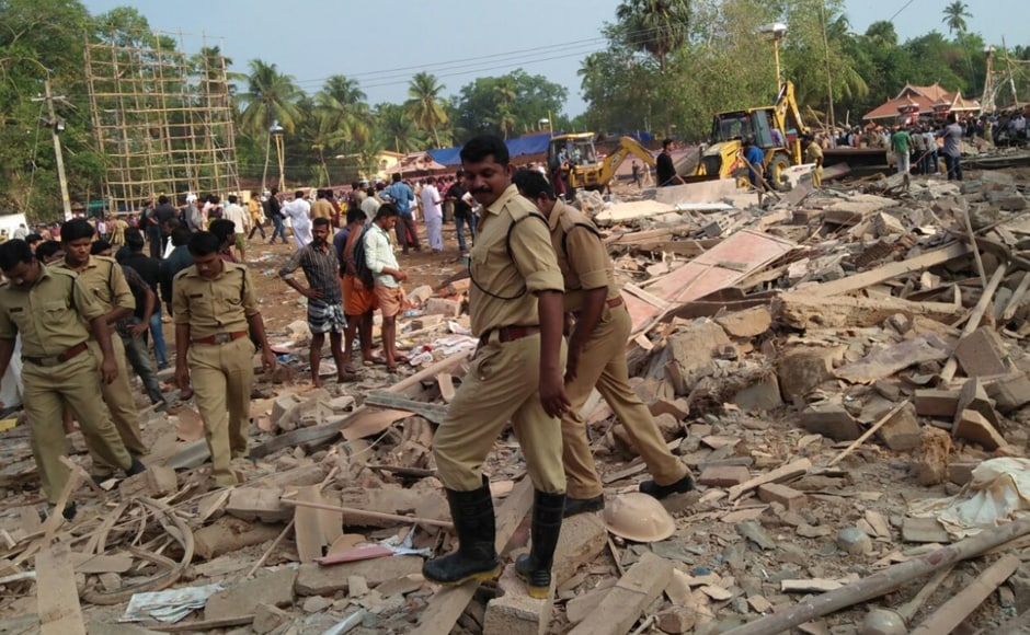 At about 9:15 in the morning, police, disaster management teams and fire brigades reachedthe tragedy site for rescue and relief efforts.