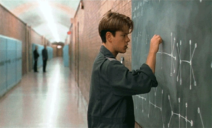 Matt Damon in and as Good Will Hunting