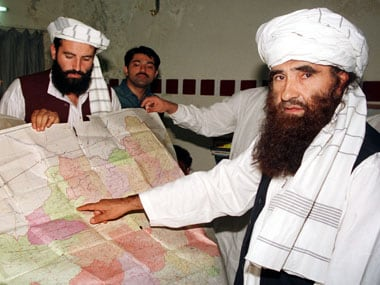 A file image of Jalaluddin Haqqani (right), a Taliban minister. Reuters
