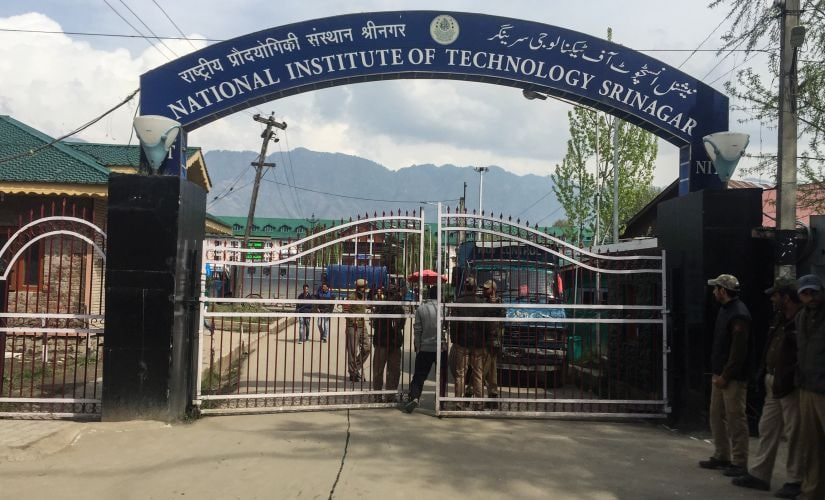 The main gate of NIT Srinagar. Sameer Yasir