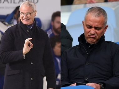 Claudio Ranieri (L) and Jose Mourinho. Getty