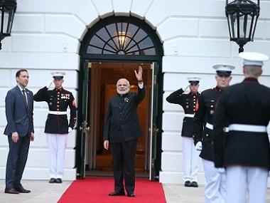 Prime Minister Narendra Modi at the White House. AP