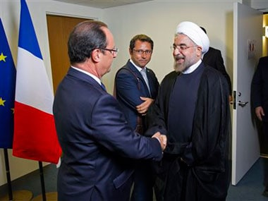 Iranian President Rouhani at the UN. AP