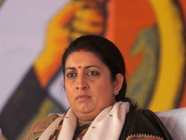 A file photo of Smriti Irani. AFP.