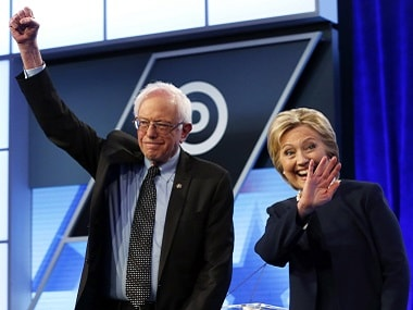 File image of Bernie Sanders and Hillary Clinton. AP
