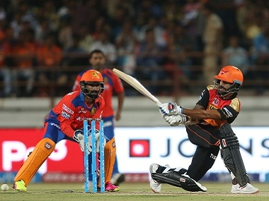 Shikhar Dhawan of Sunrisers Hyderabad in action. BCCI