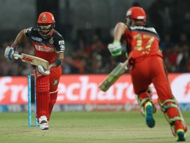 Virat Kohli and AB de Villiers put on a brilliant partnership against SRH. Photo: BCCI