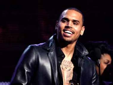 Chris Brown. Image from IBNlive