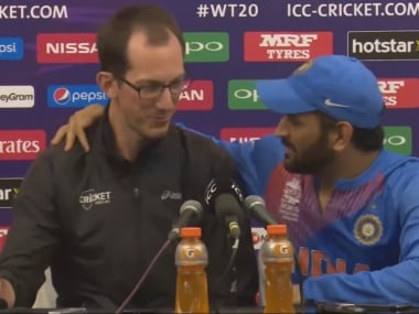 Dhoni and Ferris in a screengrab from the video.