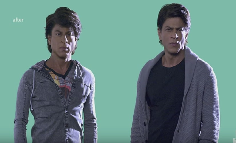 The differences in Gaurav (L) and Aryan's builds was achieved through VFX. Screen grab from YouTube