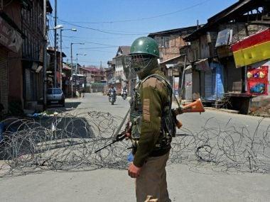 Curfew in Handwara. PTI
