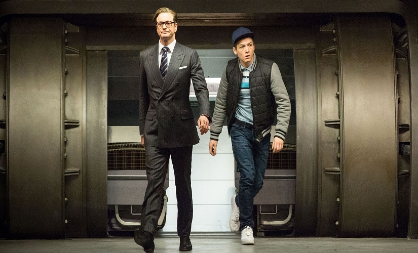 Colin Firth and Taron Egerton in the original Kingsman film