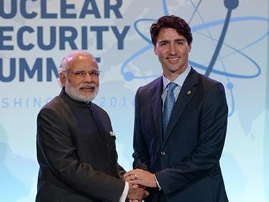 File image of Modi and Justin Trudeau. AP