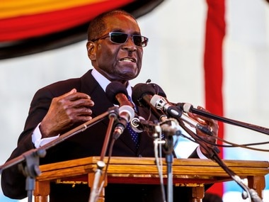A file photo of Zimbabwe President Robert Mugabe. AFP