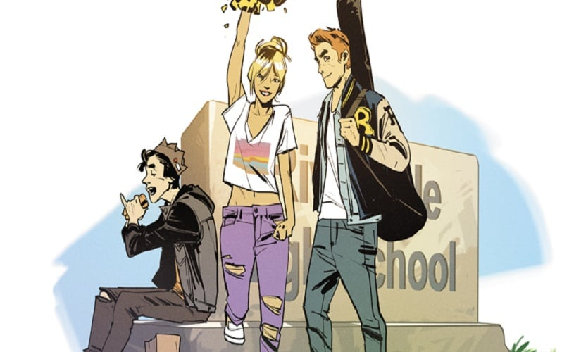 The looks for Jughead, Betty and Archie in the relaunched 'Archie' series last year