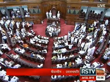 Screenshot of Rajya Sabha. Image courtesy RSTV