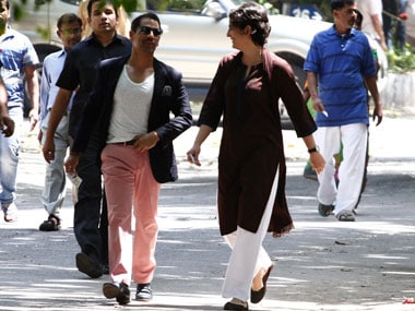 Robert Vadra with wife Priyanka. Reuters