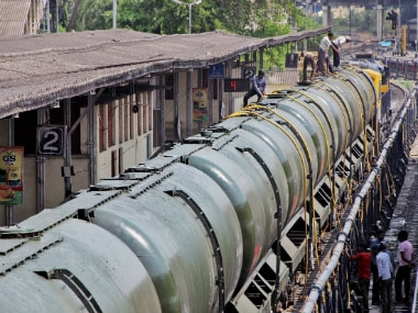 The train carrying water from Miraj to Latur. PTI