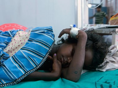 A child rests at a hospital- representational image. Reuters