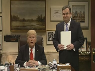 Darrell Hammond as Trump and Bobby Moynihan as Chris Christie. YouTube grab