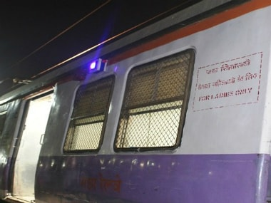 The panic button in one local train for women safety with AV indicator. Twitter @ Central_Railway