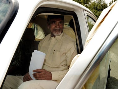 A file photo of Chandrababu Naidu. AFP