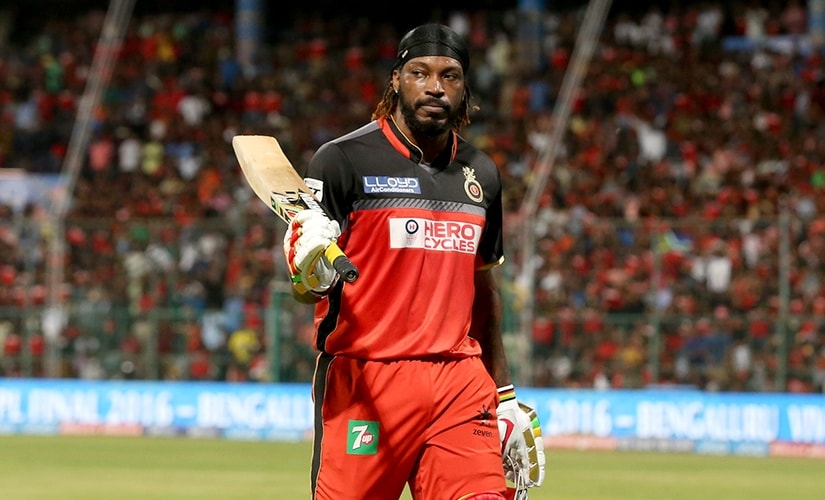 Chris Gayle, amid controversy, let his 'big bat' speak. Sportzpics