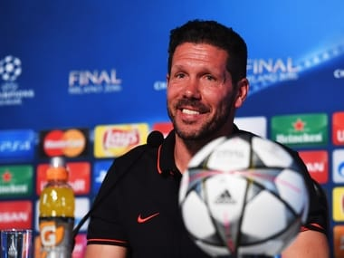Atletico Madrid manager Diego Simeone ahead of Champions League final. Getty