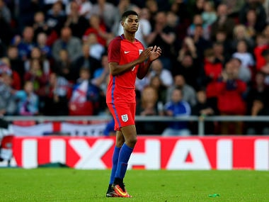 Rashford scored a goal on his England debut. Getty Images