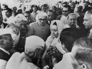A file photo on Indira Gandhi