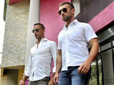 File photo of Salvatore Girone and Latorre Massimiliano. PTI
